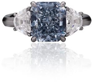 Fancy Intense Blue Diamond Ring